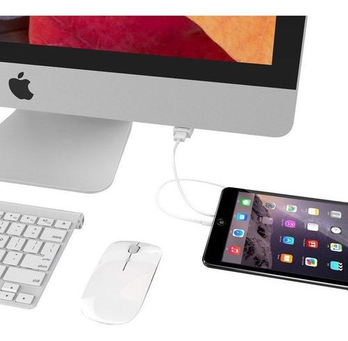 orico dm1u-wh blanco usb 3.0 hub diseñado para apple imac la