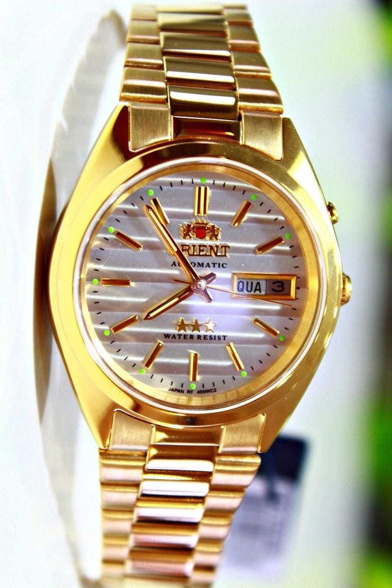 fe827fe96846c orient automático dourado masculino prova dágua 469wc2 b1kx. Carregando  zoom.
