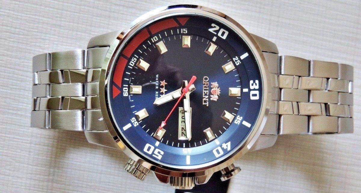 0dd653cddb5 Orient Masculino Automático 469ss058 D1sx Aço Inox 100 M - R  628