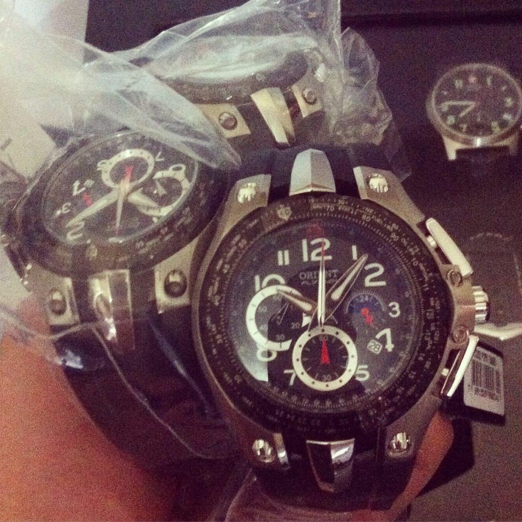 8c9205012e1 Carregando zoom... relógio orient flytech titanium masculino mbtpc002 ...