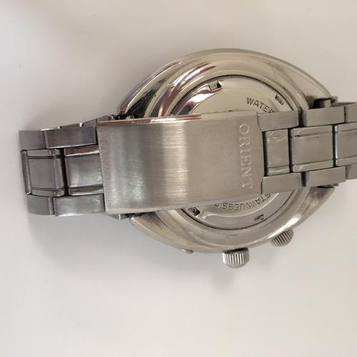 orient world diver calibre 46941 dial marrom