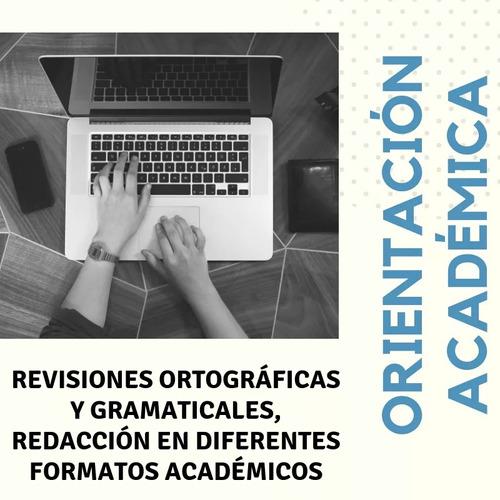 orientación, elaboración, revisión y mejoramiento de tesis
