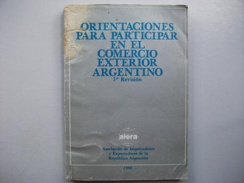 orientaciones participar comercio exterior argentino - aiera