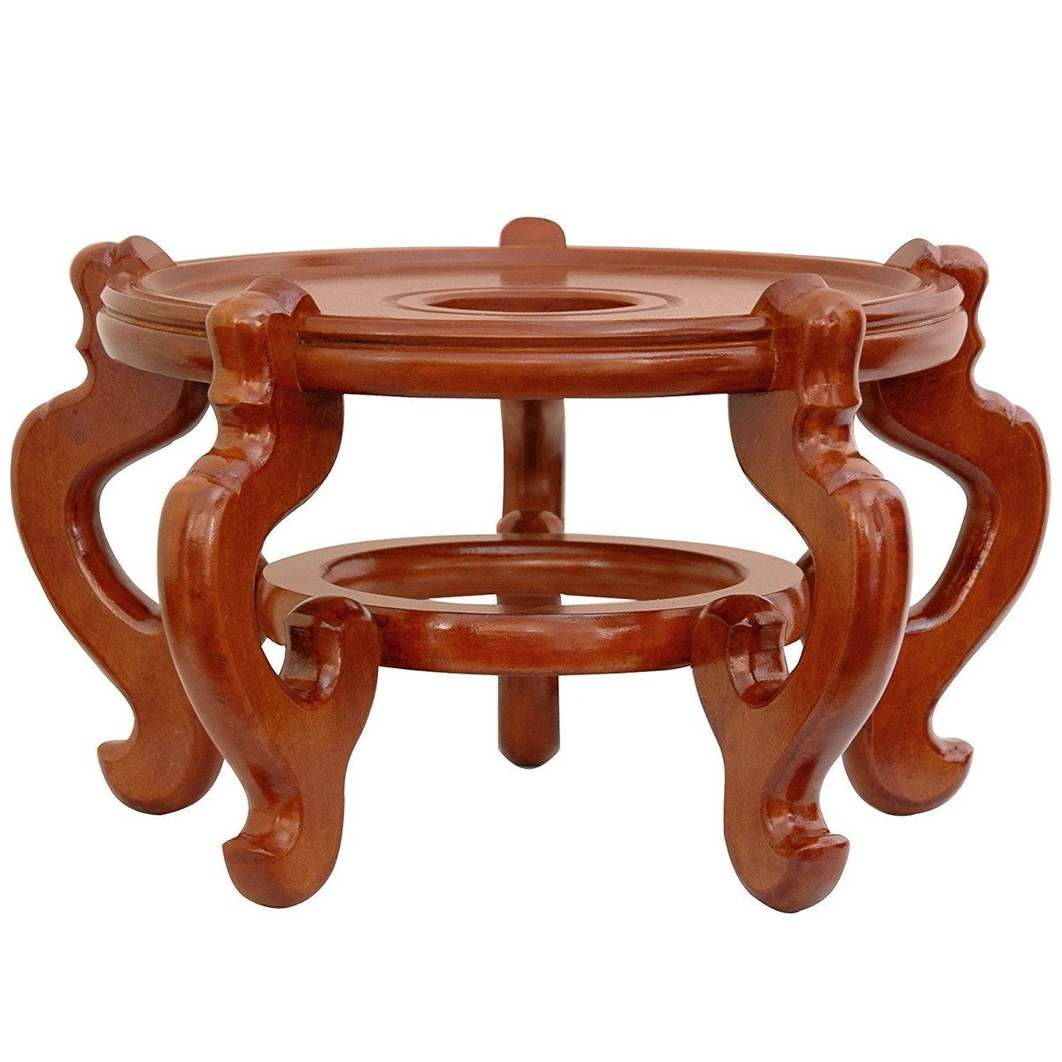 Oriental Furniture Rosewood Fishbowl Stand Honey Size 1