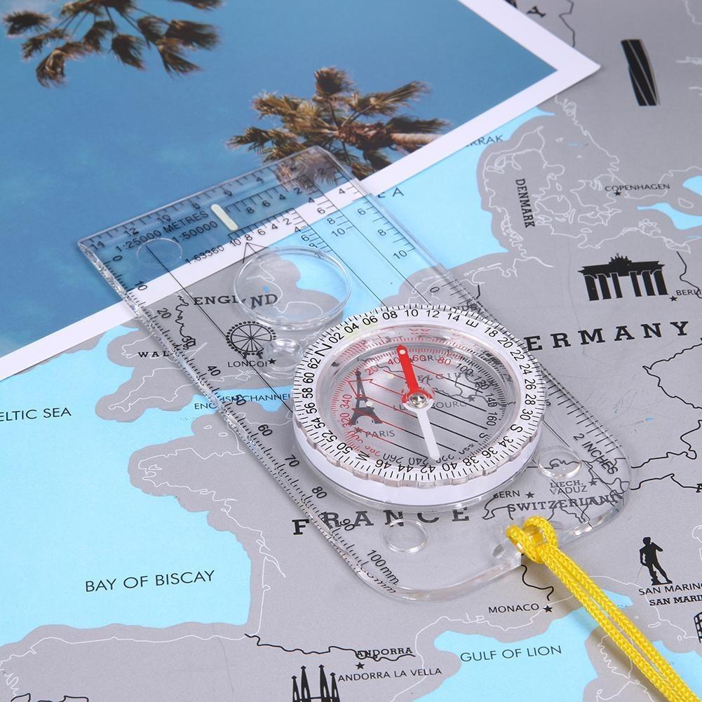 Orienteering Regla De Escala Con Base Para Mapa De Camping