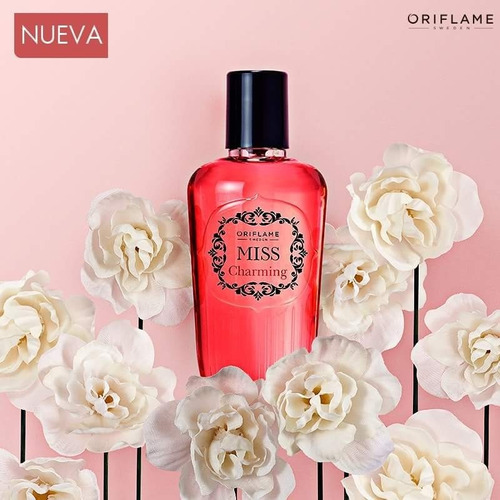 oriflame, fragancia corporal miss charming  75ml