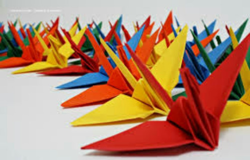 origame tsuru 10 cm - 200 unidades