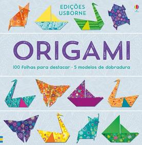 Origami  100 Folhas Para Destacar / 5 Modelos De Dobradura