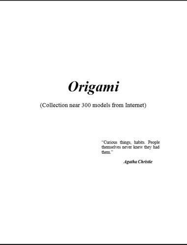 origami 500 modelos diferentes en 5 fantásticos libros