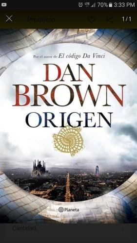 origen  dan brown planeta libro nuevo codigo da vinci