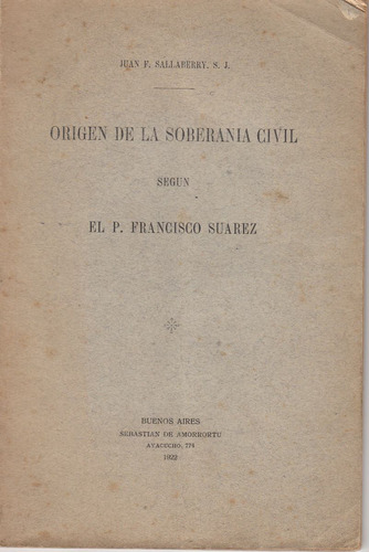 origen soberania civil francisco suarez por sallaberry 1922