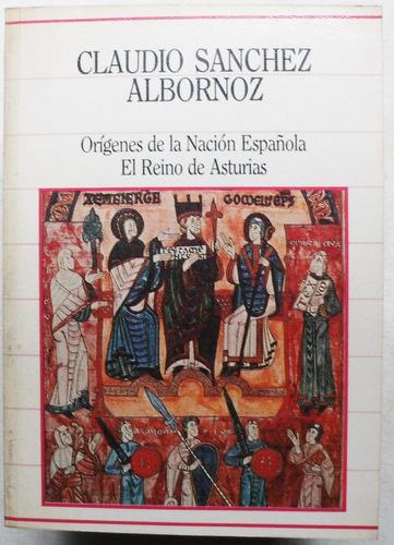 orígenes de la nación española / sánchez albornoz