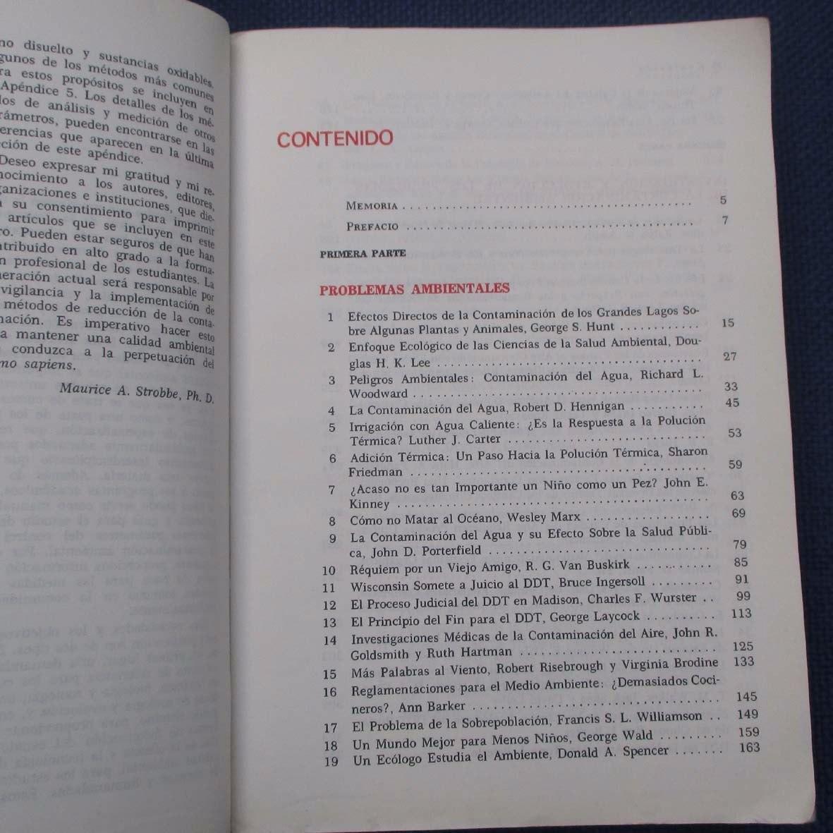Origenes Y Control De La Contaminacion Ambiental, Maurice A ...