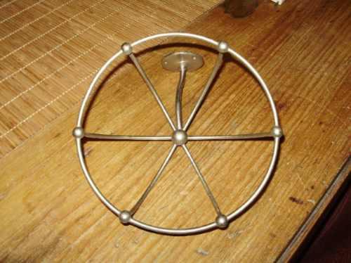 original accesorio metalico tipo copon antiguo para baño