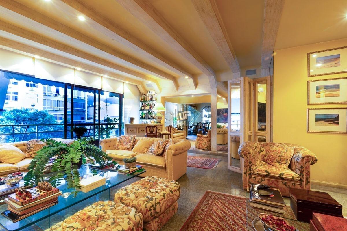 original apartamento 5 quartos, em rua nobre do leblon - 18489