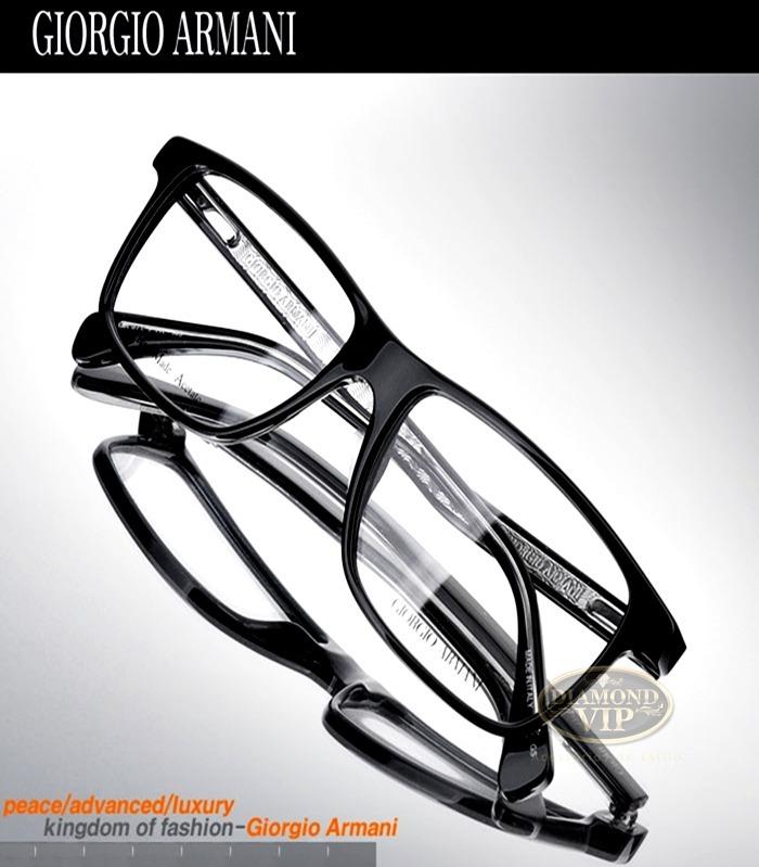 Original Armação Óculos Masculino Giorgio Armani Preto Grau - R ... 3096cea2cc