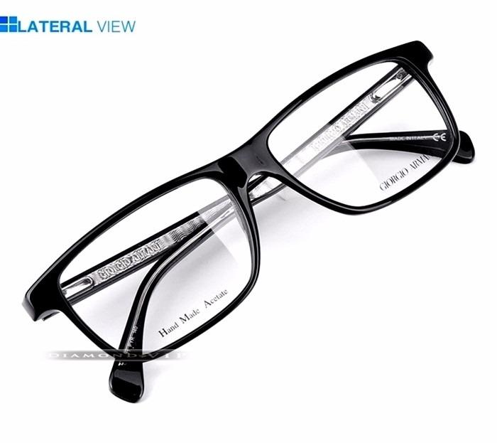 Original Armação Óculos Masculino Grau Giorgio Armani Preto - R  1.149,99  em Mercado 97b01cb290