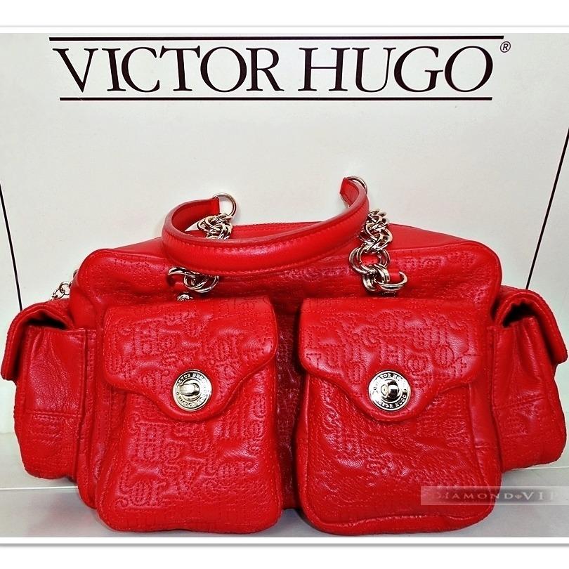 bbe215ea73 original bolsa couro legítimo vermelha victor hugo rubi ouro. Carregando  zoom.