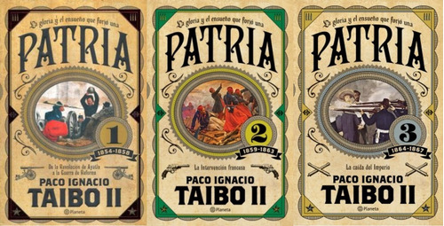 original - box set patria 1, 2 & 3 paquete - taibo ii