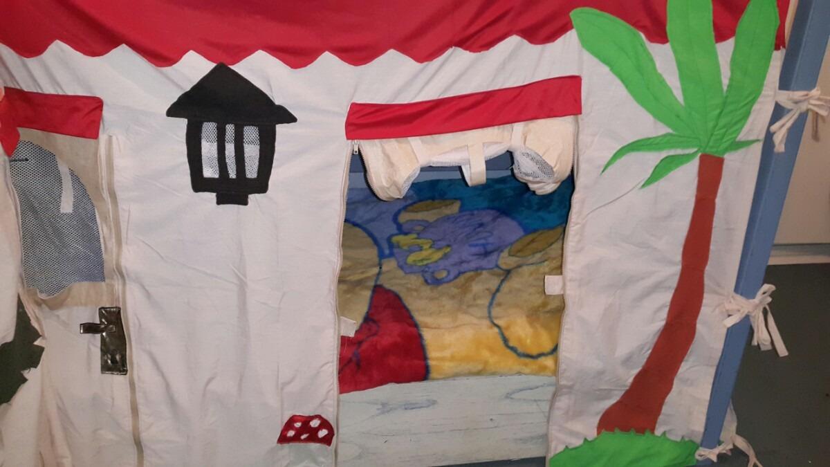 Original casa para cucheta ni os o ni as en tela juguete - Casas de juguetes para ninos ...