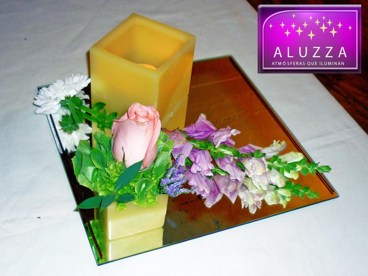Original centro de mesa para boda aluzza mdn en - Mesa centro original ...