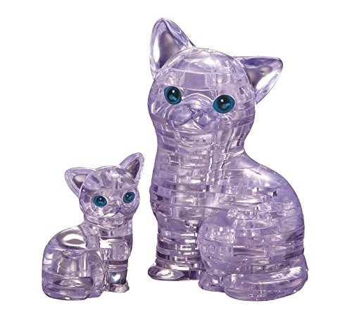 original cristalina del rompecabezas 3d - cat