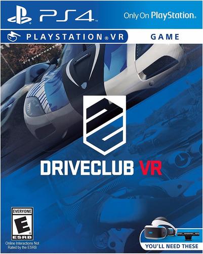 original fisico nuevo ps4 driveclub vr drive club