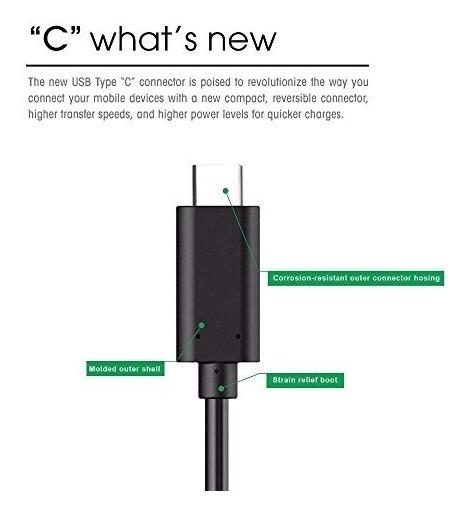 Original Huawei P20 Lite 10ft Usb A Typec Cable De Carga Y T
