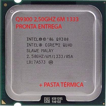 original intel 775 core 2 quad q9300 2,50ghz + pasta térmica