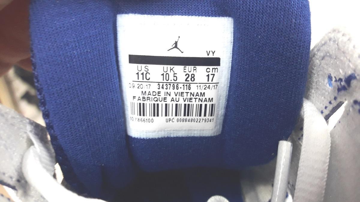 Original Kids 3 Tenis Nike Air Jordan True Fligth 7 Blanco