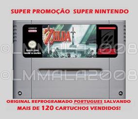 Original Legend Of Zelda Portugues Snes Super Nintendo Linda