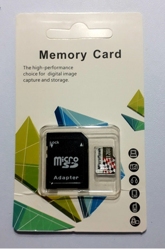 original microflash sdxc 128gb classe 10 + sd adaptador