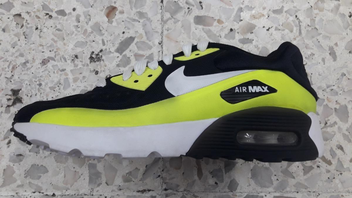 Original Mujer Tenis Nike Air Max 90 Essential Neon Y Negro Cha Tenisshop