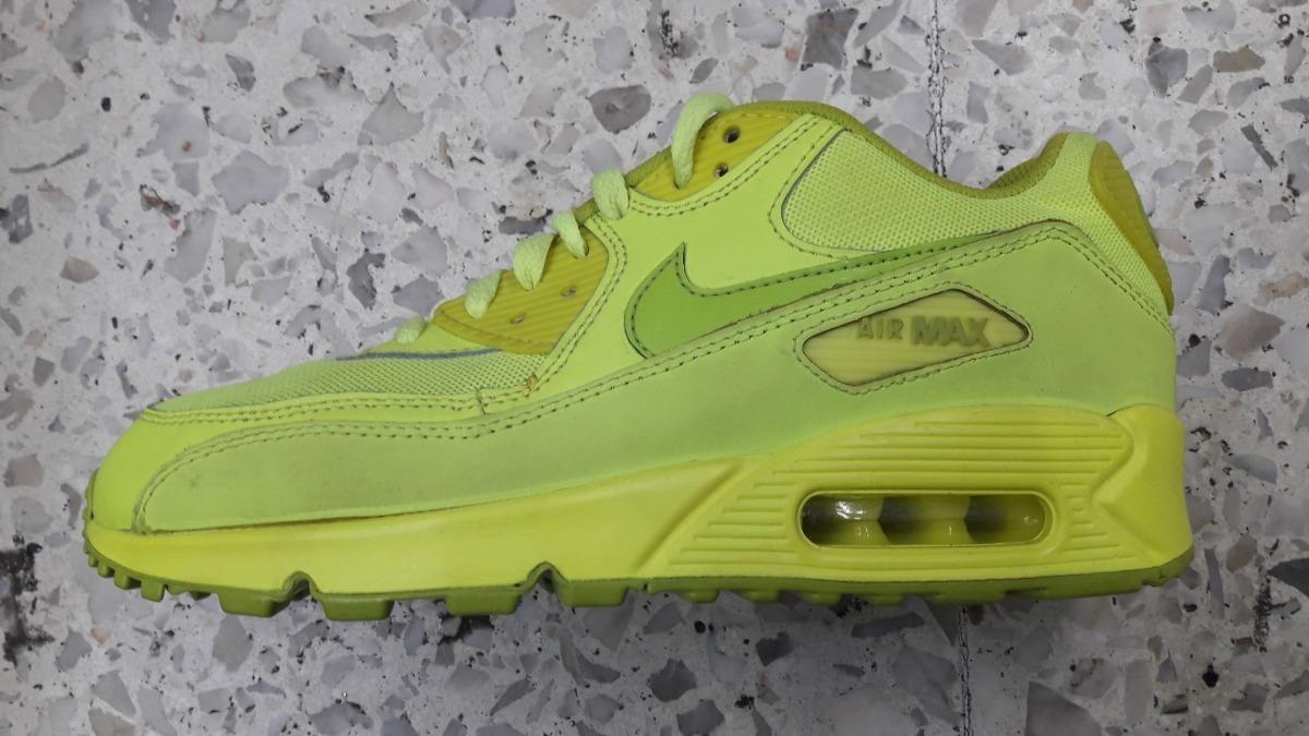 Original Mujer Tenis Nike Air Max 90 Essential Total Neon Cha Tenisshop