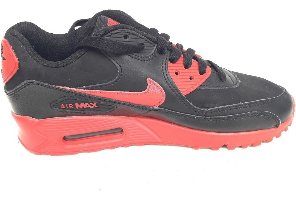 Original Mujer Tenis Nike Air Max 90 Leather Capsula Aire Black Dña Tenisshop