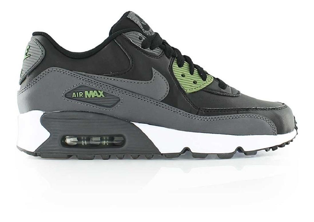 Original Mujer Tenis Nike Air Max 90 Leather Capsula Aire Negro Dña Tenisshop