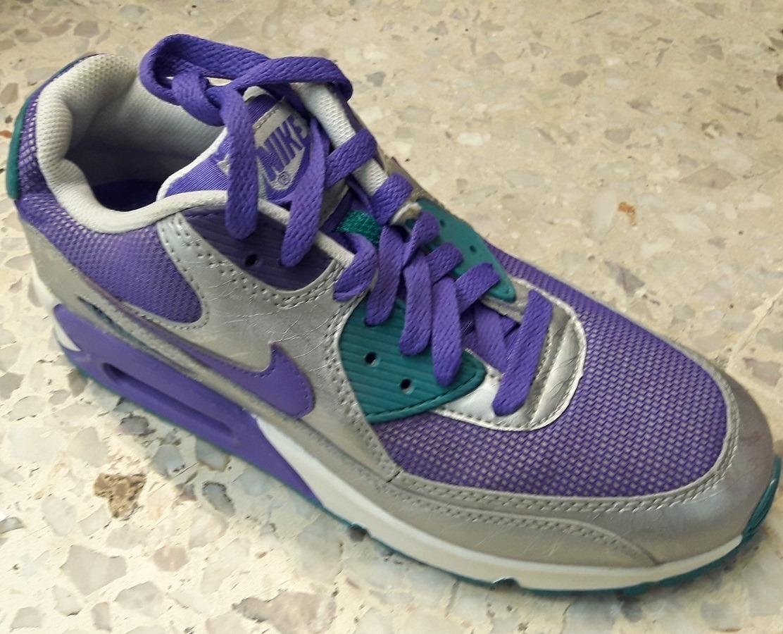 Original Mujer Tenis Nike Air Max 90 Premium Original Tape Purple Tvb Tenisshop