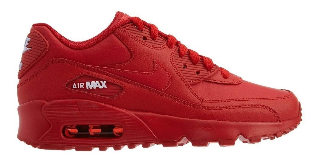 Original Mujer Tenis Nike Air Max 90 Premium Suela Capsula Rojo Ltv Tenisshop