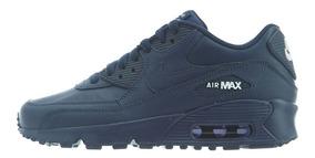 Original Mujer Tenis Nike Air Max 90 Premium Tape Marino Ltv Tenisshop