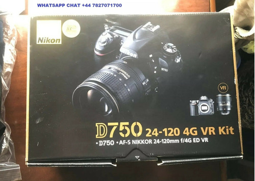 original nikon d750 vr kit 24-120mm 4k