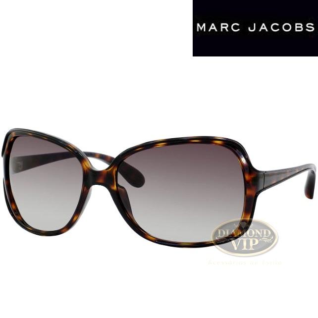 Original Óculos De Sol Feminino Marrom Marc Jacobs Tartaruga - R ... aa23ff20c9