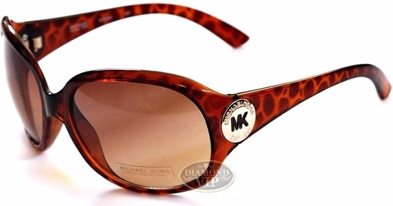a8b52a24aa4d3 Original Óculos De Sol Feminino Michael Kors Marrom Mk Novo - R ...
