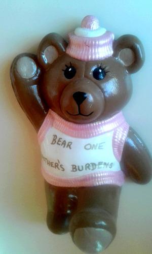 original oso teddy vintage perchero de cerámica