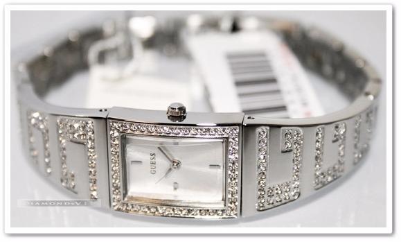 4213ed9c98adc Original Relógio Feminino Guess Cristal Swarovski Prata Fino - R ...