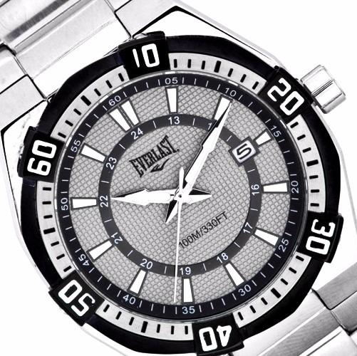 2fc16789ad2 Original Relógio Masculino Everlast Prata Esportivo Novo - R  1.159 ...