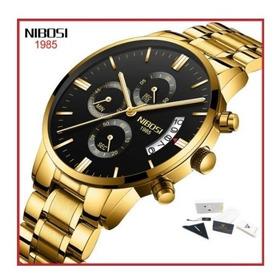 [original] Relógio Masculino Luxo Nibosi Blindado