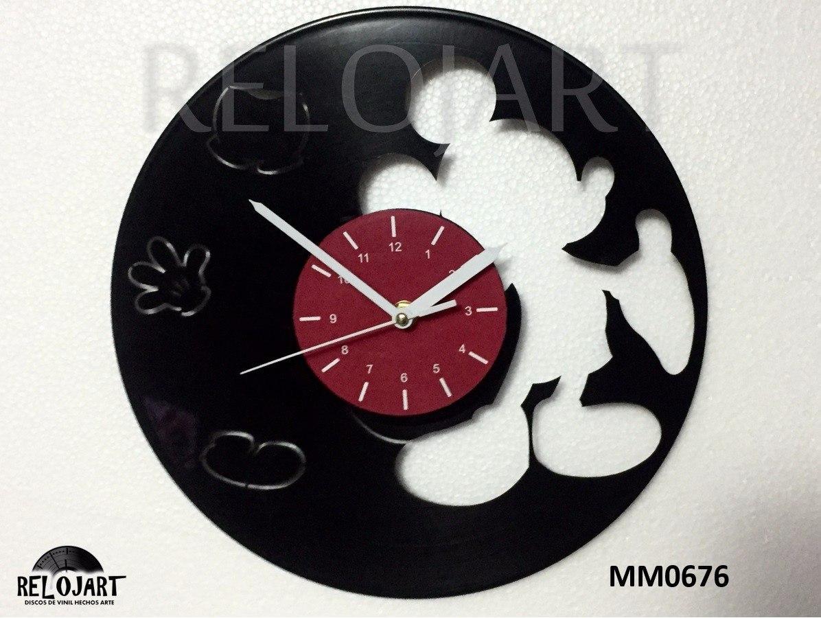 Original reloj de pared disco de acetato lp mickey mouse - Reloj de pared de diseno ...