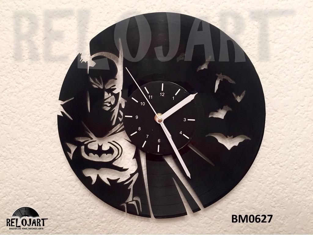 Original reloj de pared en disco de vinil batman en mercado libre - Reloj de diseno pared ...