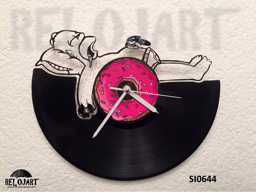 Original Reloj De Pared En Disco De Vinil Homero Simpson