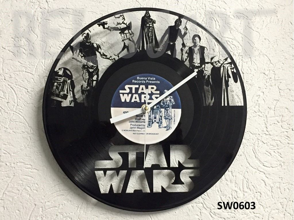 Original reloj de pared en disco de vinil star wars - Reloj pared original ...